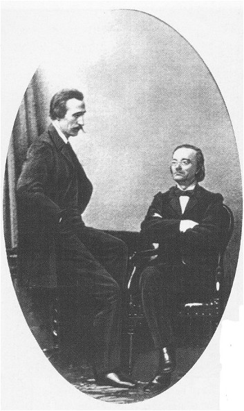 Image - Panteleimon Kulish and Mykola Kostomarov (1859 photo).