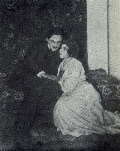 Image - Les Kurbas and Olimpiiia Dobrovolska in the Molodyi Teatr production of Max Halbe's Youth (1919).