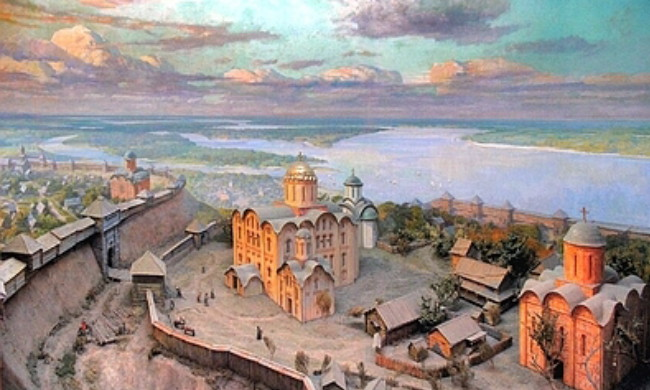 Image -- A view of medieval Kyiv (reconstruction).