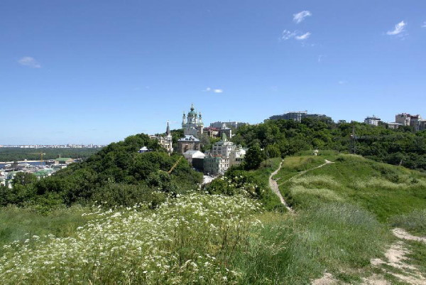 Image - A view of Kyiv Hills with Saint Andrew's Church.