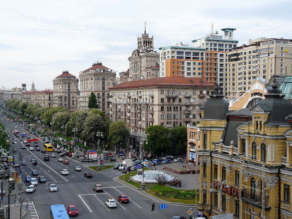Image - Kyiv: a view of Khreshchatyk.