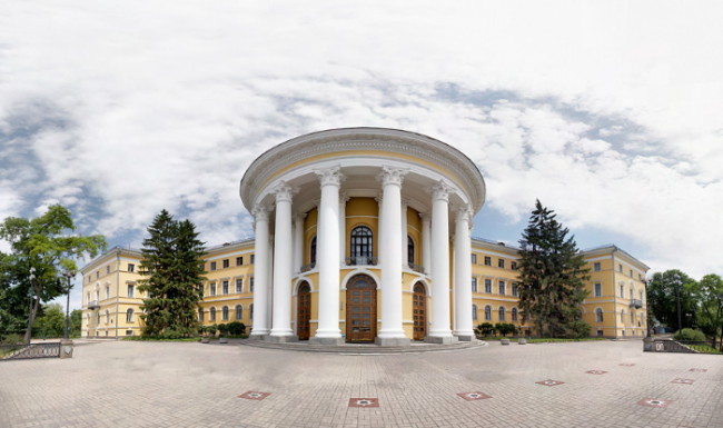 Image - The October Palace in Kyiv (formerly the Kyiv Institute for Daughters of the Nobility).