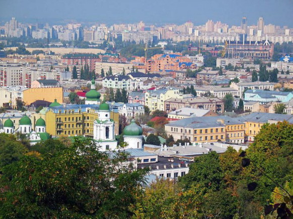 Image -- Kyiv: the panorama of the Podil district.