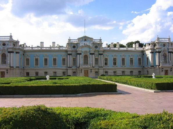 Image - The Mariinskyi Palace in Kyiv, designed by Bartolomeo Francesco Rastrelli and built in 1747-55.