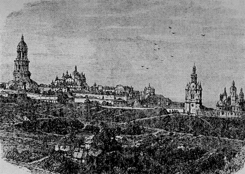Image -- Old engraving of the Kyivan Cave Monastery.