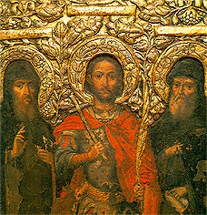 Image -- Fragment of the iconostasis of the underground Varlaam Church in the Near Caves of the Kyivan Cave Monastery.