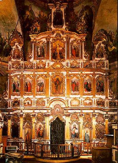 Image - Iconostasis of the Church of the Elevation of the Cross at the Kyivan Cave Monastery.
