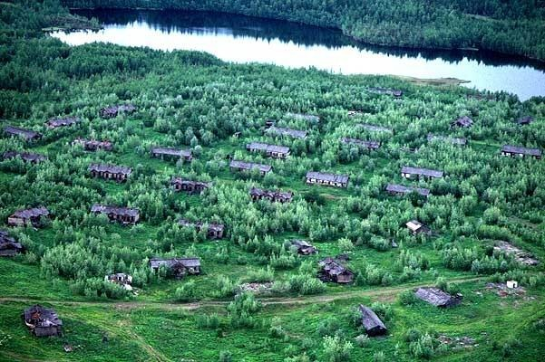 Image - A labor camp in Siberia (aerial view).