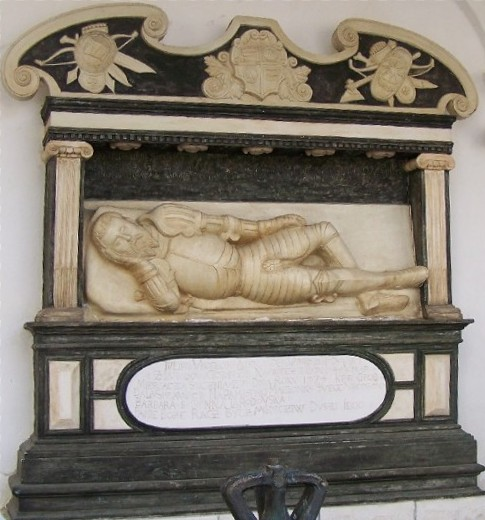 Image - A copy of the Renaissance-style tomb of O. Lahodovsky in Univ, Lviv oblast (the original 1573 tomb is preserved in the Olesko castle).