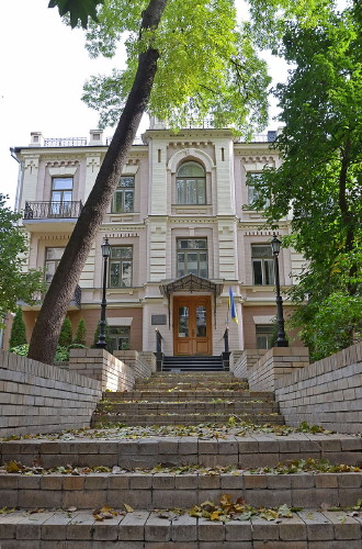 Image - A building in Kyiv in which the Lan publishing house was located.