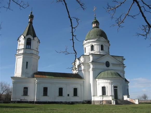 Image - Church of the Three Saints (1761) in the village of Lemeshi, Chernihiv region (funded by Hetman Kyrylo Rozumovsky; designed by Ivan Hryhorovych Barsky).
