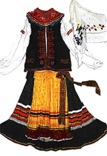 Image - Lemko woman's folk dress.