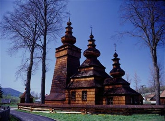 A Greek-Catholic church in the village of Kviton in the Lemko region.