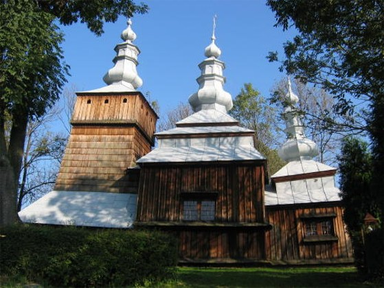 Image - SS Kosma and Damian Greek-Catholic church in the village of Krempna in the Lemko region.