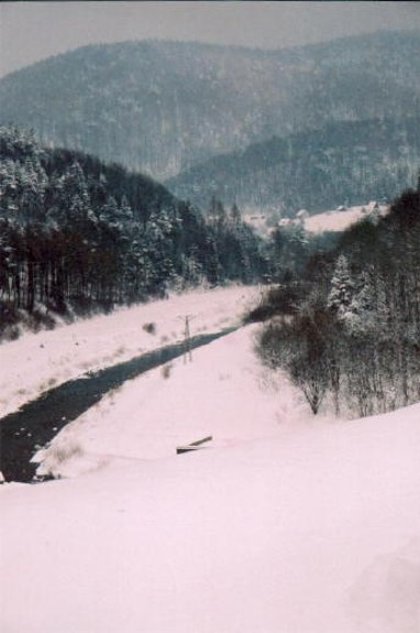 Image - Low Beskyd winter landscape in the Lemko region (near the village of Losie).