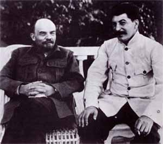 Image - Vladimir Lenin and Joseph Stalin (early 1920s).