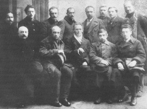 Image - The executive of the Leontovych Music Society Praesidium (1922). (Head: Yukhym Mykhailiv sitting in centre.)