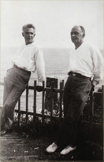 Image - Les Kurbas and Vadym Meller (Odesa, 1927).