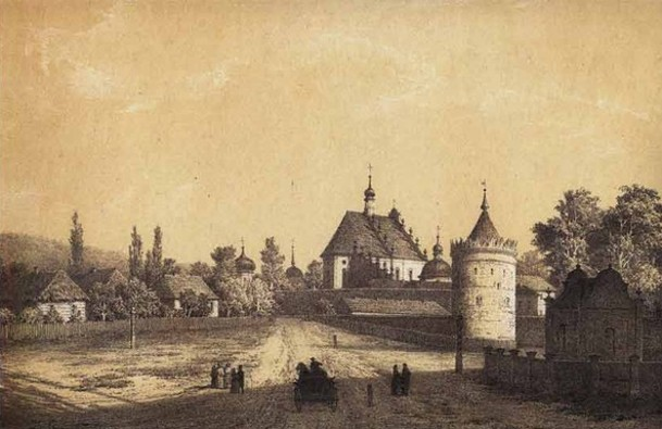 Image - Napoleon Orda's depiction of Letychiv (19th century).