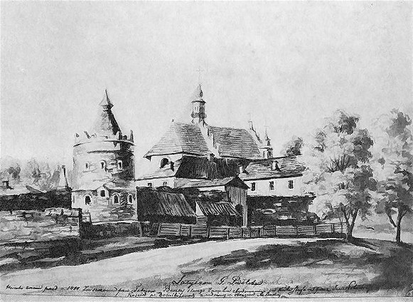 Image - Napoleon Orda's depiction of the Letychiv castle (19th century).