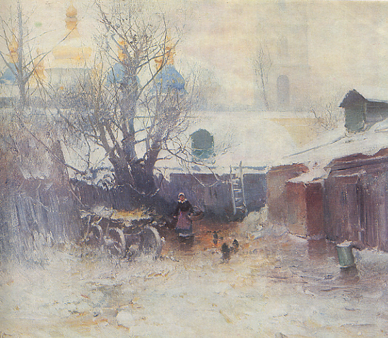 Image - Petro Levchenko: The Yard of Saint Sophia Cathedral.