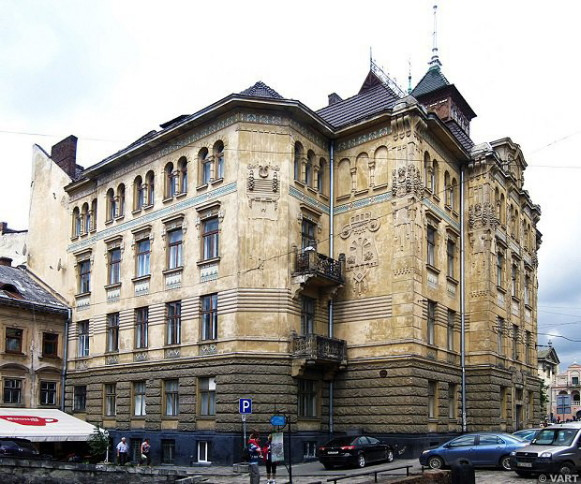 Image - The former Dnister Insurance Company building in Lviv designed by Ivan Levynsky.