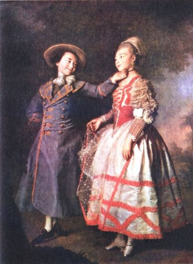 Image - Dmytro H. Levytsky: Portrait of Khruscheva and Khovanskaia (1773).