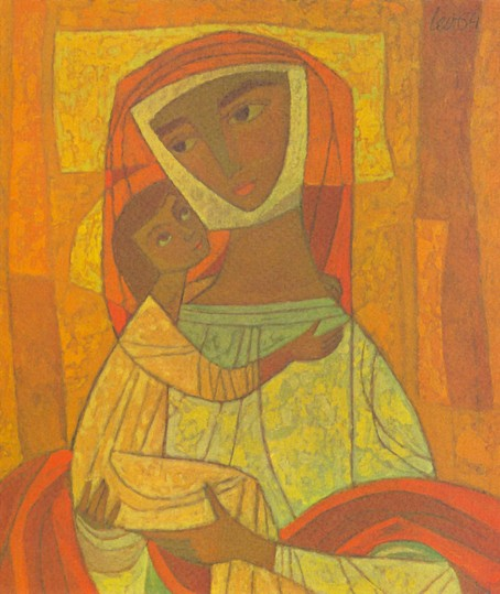 Image - Myron Levytsky: Madonna and Child (1964).