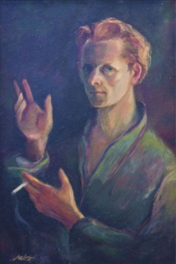 Image - Myron Levytsky: Self-portrait (1946).