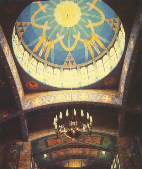 Image - Saint Andrew's Church in Lidcombe, Australia, with frescoes by Myron Levytsky.