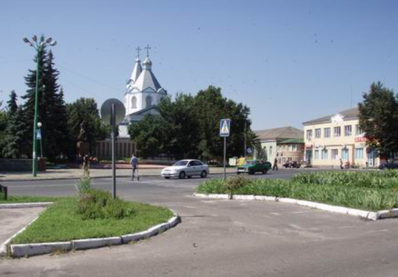 Image - Lokhvytsia: town center.
