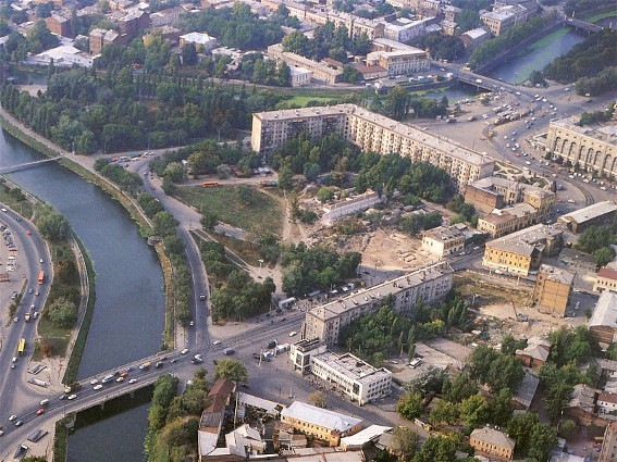 Image - The Lopan River flowing through Kharkiv.