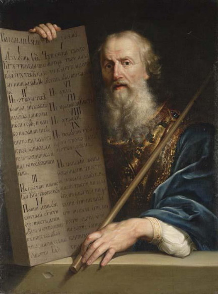 Image - Antin Losenko: Moses with the Ten Commandments.