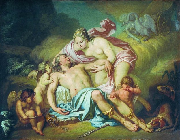 Image - Antin Losenko: Death of Adonis (1764).