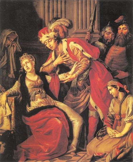 Image - Antin Losenko: Grand Prince Volodymyr and Rohinda (1770).