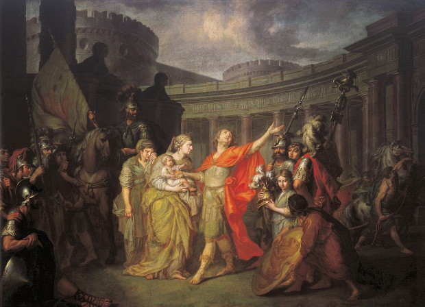 Image - Antin Losenko: Hectors Parting with Andromache (1773).