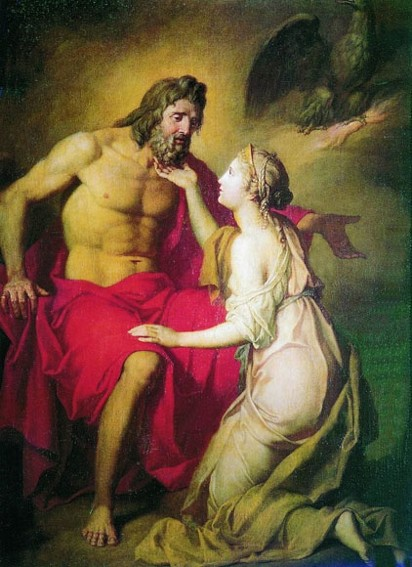 Image - Antin Losenko: Zeus and Themis (1769).