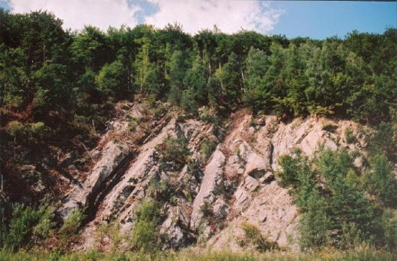 Image - Low Beskyd landscape: a rocky hill in the vicinity of Losie.