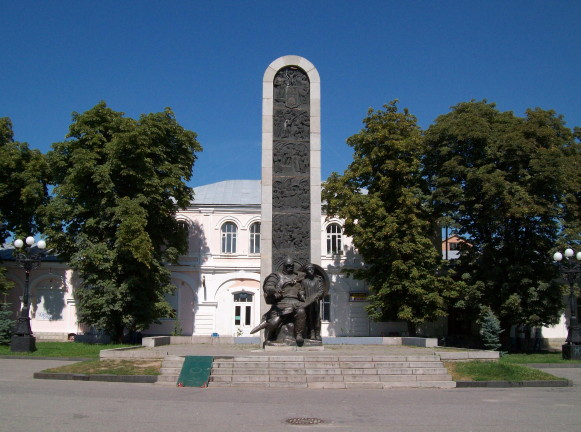 Image - Lubny: Monument of Grand Prince Volodymyr the Great in the city center.