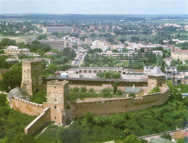 Image - The Lutsk Castle (13th-16th century) (aerial view).
