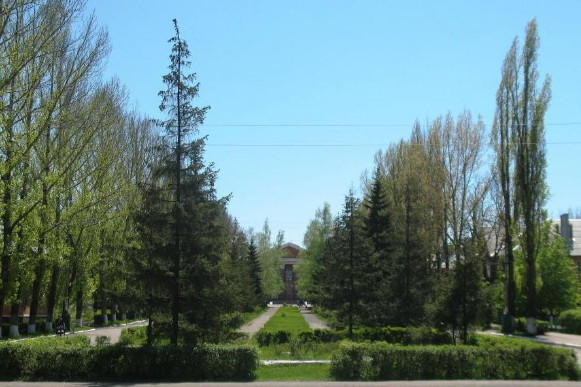 Image - Lutuhyne, Luhansk oblast: city center.