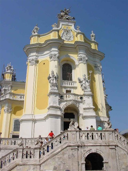 Image - Saint George's Cathedral in Lviv (main entrance).