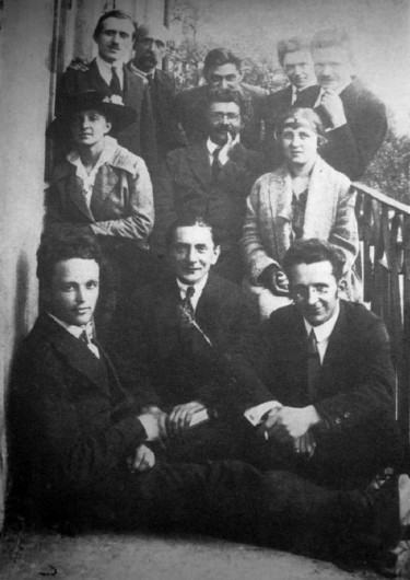 Image - Lviv intellectuals (1921): Pavlo Kovzhun (first row left), Mykola Holubets (first row right), and others.