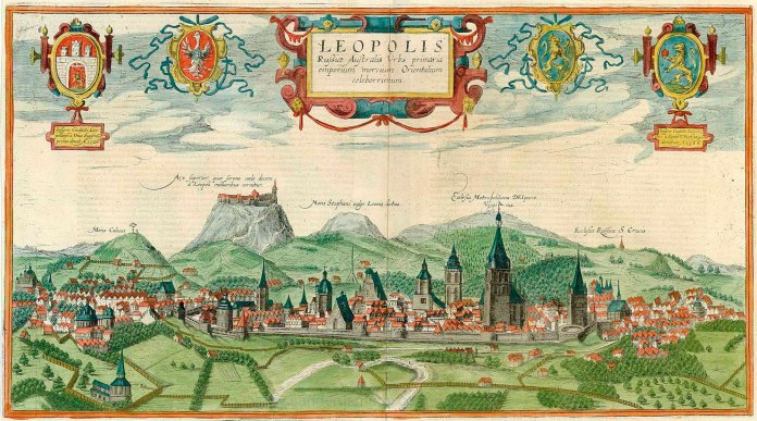 Image - A panorama of Lviv by Abraham Hogenberg and Aurelio Passaroti (1617-18).