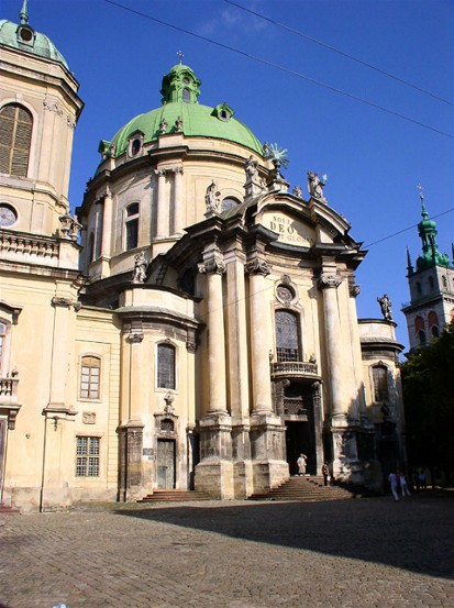 Image -- The Dominican Church in Lviv (1764).