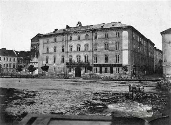 Image - The People's Home in Lviv (1860s view).