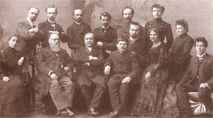 Image - Mykola Lysenko among the Ukrainian civic leaders in Kharkiv.
