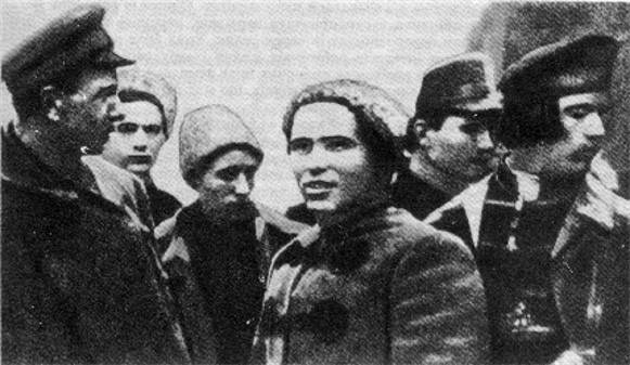 Image -- Nestor Makhno with his officers.