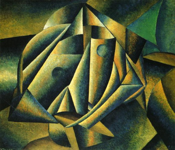 Image - Kazimir Malevich: Head of a Peasant Girl (1912-13).