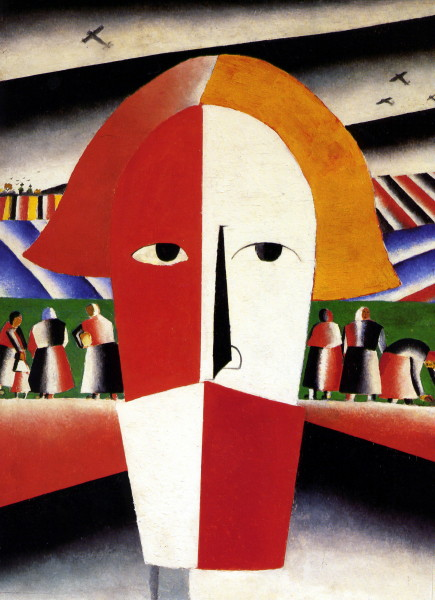 Image - Kazimir Malevich: Head of a Peasant (1928-30).